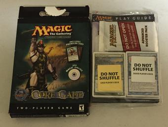 Magic the Gathering Core Set - Eighth Edition Two-Player Game & CD - Opened Box, Sealed Contents