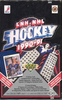 1990/91 Upper Deck French Hi # Hockey Wax Box