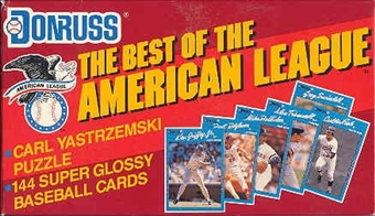 1990 Donruss Best of the American League Baseball Factory Set