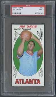 1969/70 Topps Basketball #53 Jim Davis PSA 7 (NM) *9145