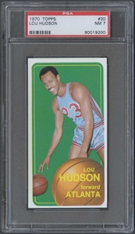 1970/71 Topps Basketball #30 Lou Hudson PSA 7 (NM) *9200