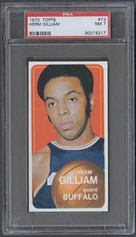 1970/71 Topps Basketball #73 Herm Gilliam PSA 7 (NM) *9217