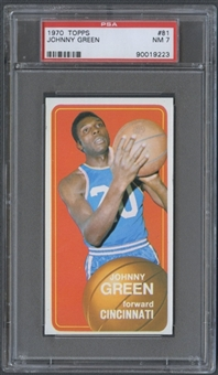 1970/71 Topps Basketball #81 Johnny Green PSA 7 (NM) *9223