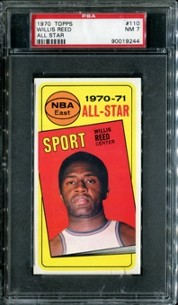 1970/71 Topps Basketball #110 Willis Reed All Star PSA 7 (NM) *9244
