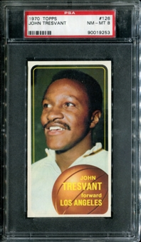 1970/71 Topps Basketball #126 John Tresvant PSA 8 (NM-MT) *9253