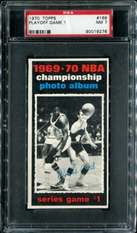 1970/71 Topps Basketball #168 Playoff Game 1 - Willis Reed PSA 7 (NM) *9276