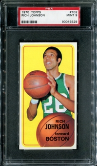 1970/71 Topps Basketball #102 Rich Johnson PSA 9 (MINT) *9329