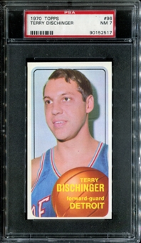 1970/71 Topps Basketball #96 Terry Dischinger PSA 7 (NM) *2517