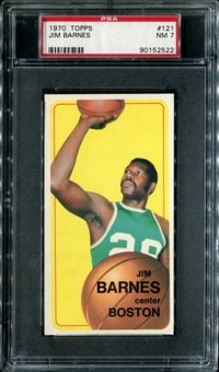 1970/71 Topps Basketball #121 Jim Barnes PSA 7 (NM) *2522