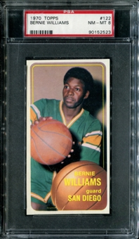 1970/71 Topps Basketball #122 Bernie Williams PSA 8 (NM-MT) *2523