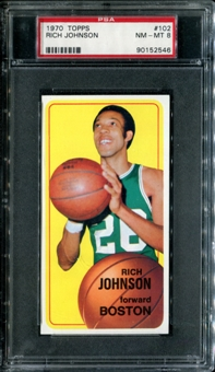 1970/71 Topps Basketball #102 Rich Johnson PSA 8 (NM-MT) *2546