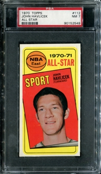 1970/71 Topps Basketball #112 John Havlicek All Star PSA 7 (NM) *2549