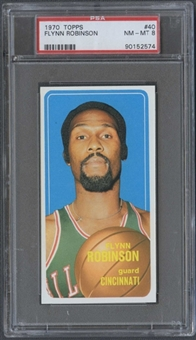 1970/71 Topps Basketball #40 Flynn Robinson PSA 8 (NM-MT) *2574