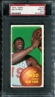 1970/71 Topps Basketball #150 Willis Reed PSA 9 (MINT) (OC) *2610