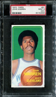 1970/71 Topps Basketball #91 John Warren PSA 9 (MINT) (OC) *2658