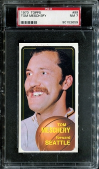1970/71 Topps Basketball #99 Tom Meschery PSA 7 (NM) *2659