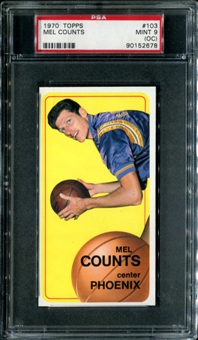 1970/71 Topps Basketball #103 Mel Counts PSA 9 (MINT) (OC) *2678