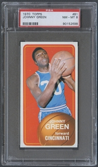 1970/71 Topps Basketball #81 Johnny Green PSA 8 (NM-MT) *2698