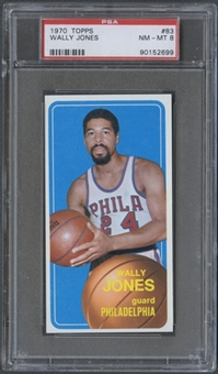 1970/71 Topps Basketball #83 Wally Jones PSA 8 (NM-MT) *2699