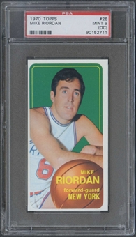 1970/71 Topps Basketball #26 Mike Riordan PSA 9 (MINT) (OC) *2711