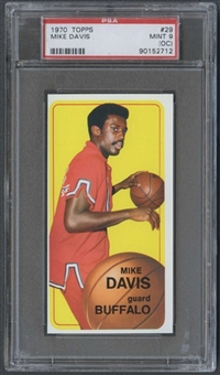 1970/71 Topps Basketball #29 Mike Davis PSA 9 (MINT) (OC) *2712