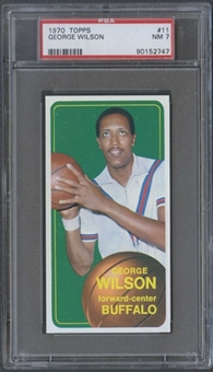 1970/71 Topps Basketball #11 George Wilson PSA 7 (NM) *2747