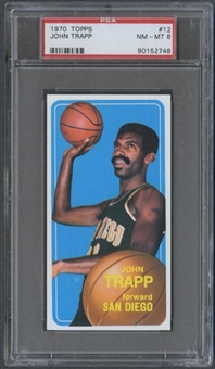 1970/71 Topps Basketball #12 John Trapp PSA 8 (NM-MT) *2748
