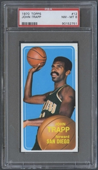1970/71 Topps Basketball #12 John Trapp PSA 8 (NM-MT) *2751
