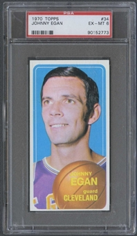 1970/71 Topps Basketball #34 Johnny Egan PSA 6 (EX-MT) *2773