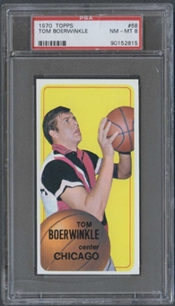 1970/71 Topps Basketball #68 Tom Boerwinkle PSA 8 (NM-MT) *2815