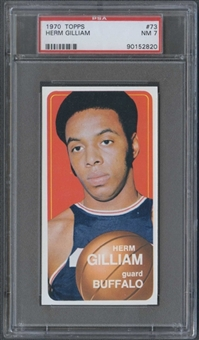 1970/71 Topps Basketball #73 Herm Gilliam PSA 7 (NM) *2820