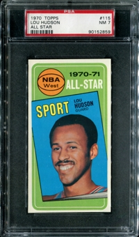 1970/71 Topps Basketball #115 Lou Hudson All Star PSA 7 (NM) *2859