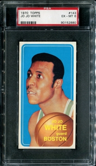 1970/71 Topps Basketball #143 Jo Jo White PSA 6 (EX-MT) *2880