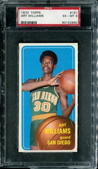 1970/71 Topps Basketball #151 Art Williams PSA 6 (EX-MT) *2890