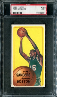 1970/71 Topps Basketball #163 Tom Sanders PSA 7 (NM) *2901