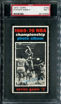 1970/71 Topps Basketball #169 Playoff Game 2 - Dick Garrett PSA 7 (NM) *2908