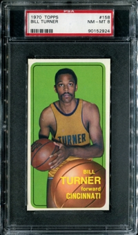 1970/71 Topps Basketball #158 Bill Turner PSA 8 (NM-MT) *2924