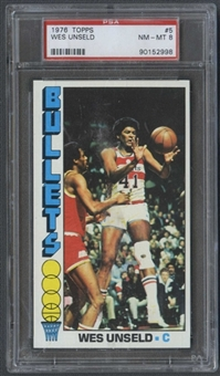 1976/77 Topps Basketball #5 Wes Unseld PSA 8 (NM-MT) *2998