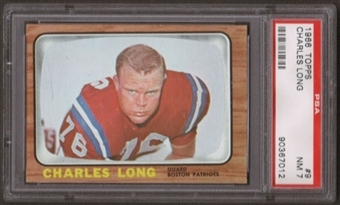 1966 Topps Football #9 Charles Long PSA 7 (NM) *7012