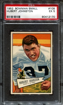 1952 Bowman Small Football #108 Hubert Johnston PSA 5 (EX) *2170