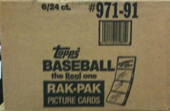 1991 Topps Baseball Rack 6-Box Case