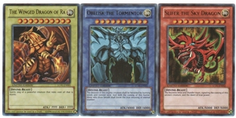 Yu-Gi-Oh Legendary Collection Egyptian God Card Ultra Rare Complete Set