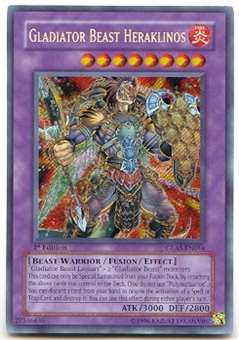 Yu-Gi-Oh Gladiator's Assault Single Gladiator Beast Heraklinos Secret Rare
