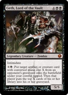 Magic the Gathering Scars of Mirrodin Single Geth, Lord of the Vault UNPLAYED (NM/MT)