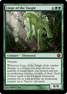 Magic the Gathering Scars of Mirrodin Single Liege of the Tangle Foil