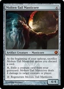 Magic the Gathering Scars of Mirrodin Single Molten-Tail Masticore Foil