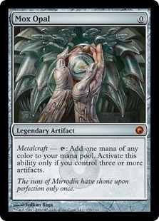 Magic the Gathering Scars of Mirrodin Single Mox Opal - SLIGHT PLAY (SP)