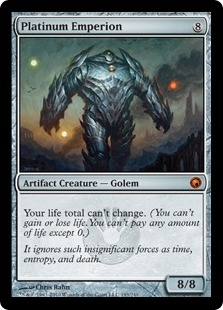 Magic the Gathering Scars of Mirrodin Single Platinum Emperion UNPLAYED (NM/MT)