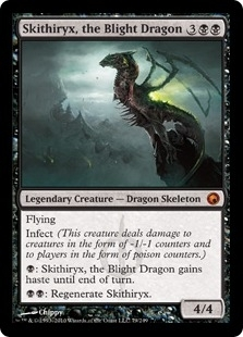 Magic the Gathering Scars of Mirrodin Single Skithiryx, the Blight Dragon Foil