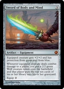 Magic the Gathering Scars of Mirrodin Single Sword of Body and Mind Foil